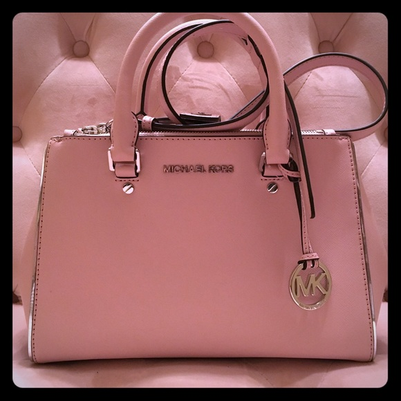 132546c7692254 Michael Kors Bags | Small Sutton Satchel Pink And Silver | Poshmark